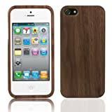 Tedim® - Handmade Artisan Natural Eco Walnut Hard Wood For apple iPhone 5 wit...