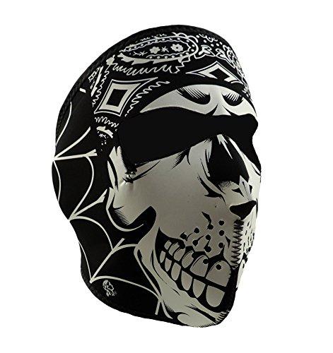 ZAN Headgear Full Face Lethal Threat Gangster Skull Neoprene Protective Facemask