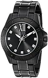 GUESS Men's U0721G3 Sharp Black Watch with Diamond Markers