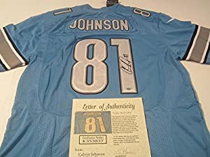 Calvin Johnson Detroit Lions Signed Autographed Jersey Authentic Certified Coa