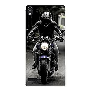 Bike Rider Multicolor Back Case Cover for Ascend P6