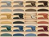 Kettelservice-Metzker® Stufenmatten Rambo New Halbrund SparSet incl. Fleckenentferner Taupe 15 Stück