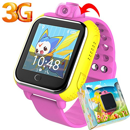 3G-GPS-Tracker-Kids-Smart-Watch-TURNMEON-Wristwatch-SIM-SOS-WIFI-Camera-Touch-Smartwatch-Parent-Control-app-for-Smartphone-Pink
