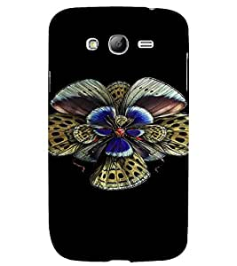 PrintVisa Colorful Butterfly Design 3D Hard Polycarbonate Designer Back Case Cover for Samsung Galaxy Grand