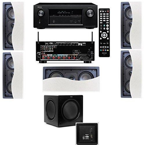 Klipsch R-2502-W Ii In-Wall Speaker (Lcr) 5.1 Denon Avr-X2100W 7.2