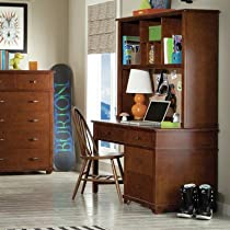 """Hot Sale Woodridge 53"""" W Writing Desk with Hutch and Bow Back Desk Chair"""