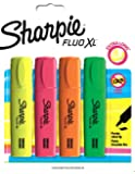 Sharpie Fluo XL Highlighter Assorted Colours - Pack of 4