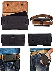 Colorkart Men's Waist Belt Holster Case Pouch Bag For Motorola XT1557 Mobile Phone