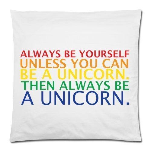 Funny-Unicorn-Citation-Always-Be-Yourself-Unless-You-Can-Be-A-Unicorn-Coussin-cas-Couvre-lit-Taie-doreiller-Decor-Housses-de-coussin-carr-avec-fermeture-Fermeture-clair-Invisible-457-x-457-cm-un-ct-im