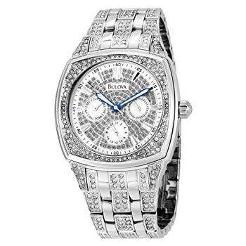 Bulova Men's Crystal Day-Date Watch #96C002 by Bulova
