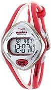 Timex Womans T5K787 Ironman Sleek 50-Lap Orange Resin Strap Watch