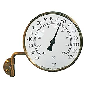 Conant Custom Brass Model T-6 Vermont Natural Brass Dial Thermometer