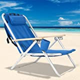 Best Choice Products® Backpack Beach Chair Folding Portable...