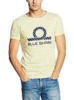BLUE SHARK Camiseta Manga Corta (Amarillo / Gris)