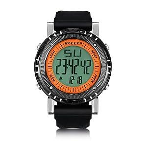Holler Herren-Armbanduhr Holler Groovesville Orange Analog Plastik Schwarz HLW2190-2