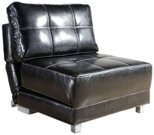 New York Black Convertible Chair Bed Furniture Chairs Arm Chairs ...
