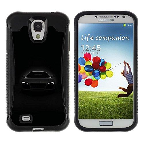 iArmor HYBRID Hülle Bumper Schutzhülle / Car Front Lights Powerful Black White / Samsung Galaxy S4 I9500
