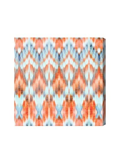 Oliver Gal Peach Bellini With Blues Canvas Art