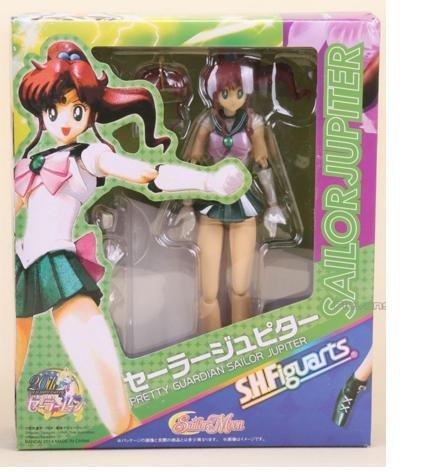 [15cm 6inches Japanese Anime Sailor Moon Mercury Mars Venus PVC Action Figure Toy (Sailor Jupiter)] (Sailor Moon Sailor Jupiter Wig Adult)