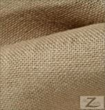 LA Linen 60-Inch Burlap Fabric By The Yard, Natural Color.