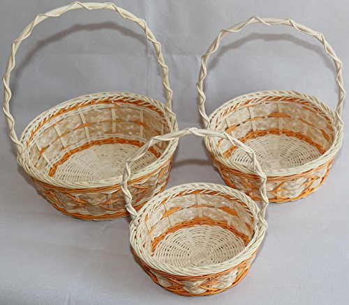 Range Flower Baskets : Rt or wicker rattan flower baskets easter