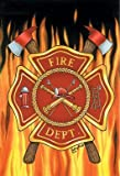 "NEW Fire Department 12""x18"" Garden Flag - Ships in 24 Hours"