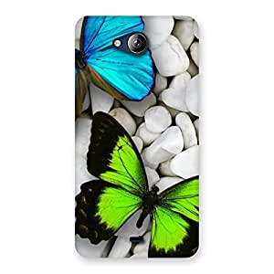 Enticing Premier Butterflies Multicolor Back Case Cover for Canvas Play Q355