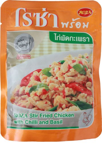 Roza Stir Fried Chicken With Chilli And Basil Size 85 G. (Pack 3)