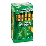 Dixon Ticonderoga 13872 Woodcase Pencil, HB #2, Yellow Barrel, 96 per Pack