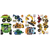 RoomMates SPD0003SCS Construction Vehicles Peel and Stick Wall Decals, 1-Pack