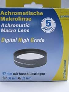 Dörr DHG Bonnette macro achromatique 5 dpt 67 mm Avec bague d'adaptation 62 mm et 58 mm (Import Allemagne)
