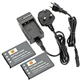 DSTE® 2pcs NP-20 Rechargeable Li-ion Battery + Charger DC75U for Casio NP20, NP-20DBA and Casio Exilim EX-M1, EX-M2, EX-M20, EX-S1, EX-S2, EX-S3, EX-S20, EX-S100, EX-S500, EX-S600, EX-S770, EX-S880, EX-Z3, EX-Z4, EX-Z5, EX-Z6, EX-Z7, EX-Z8, EX-Z11, EX-Z