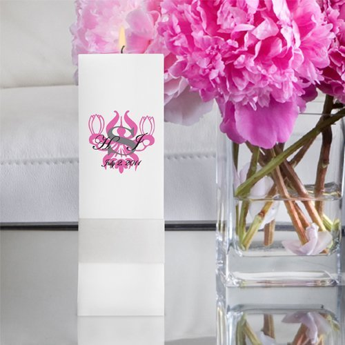 Royal Allure Unity Candle Square Pillar Candle Ra14