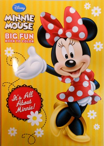 "Disney Minnie Mouse Coloring Book ""It's All About Minnie!"""