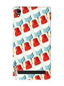 Omnam Ice Cream Printed Designer Back Cover Case For Intex Aqua Power Plus