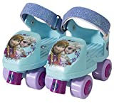 Disney Frozen Kids Glitter Rollerskate, Junior Size 6-12 with Knee Pads