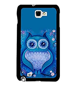 Fuson Premium 2D Back Case Cover Animated owl With Brown Background Degined For Samsung Galaxy Note 2::Samsung Galaxy Note 2 N7100
