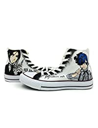 Anime Black Butler Converse Shoes High Top Canvas Sneaker Hand Painted Custom Shoes