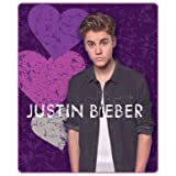 """Justin Bieber Blanket the Bieber Heart Break Fleece Throw 50"""" X 60"""" Justin Bieber Collectable Throw. Great Gift for Teens or Anyone At Christmas, Valentines Day or Birthdays."""