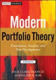 Modern Portfolio Theory: Foundations, An...