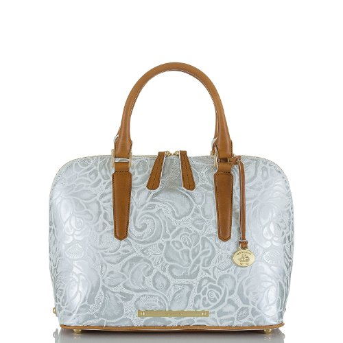 Vivian Dome Satchel<br>Lyon White