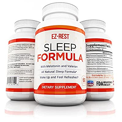 Natural Sleep Pills - Combat Insomnia & Night Anxiety Sleep Aid Increase Deeper REM Sleep Supplement Made in USA - Calming Night Time Anxiety & Stress Increase Sleep Quality Sleep Supplement Men Women