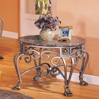 Cheap Garland End Table in Antique Silver (7081E)