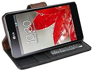 mumbi Tasche im Bookstyle für LG E975 Optimus G Tasche