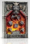 Polyhedral 7-Die Set of Metal Dice (7): Dwarven Metal Black Design – Solid Metal Import Dice…
