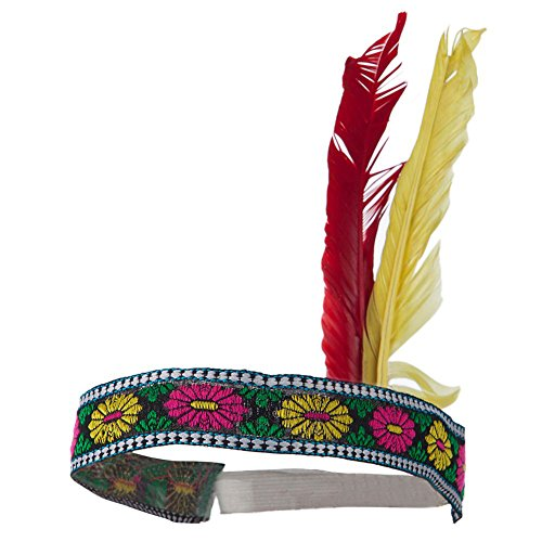 Native American Indian Costume Headband w/ Feathers