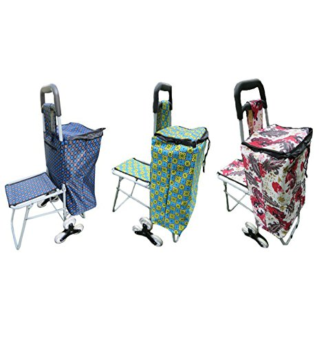 Vegetable & Fruit Folding 3 WHEEL Trolley Bag with Chair