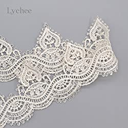 1 Piece New Arrival Multicolor Lace Hollow Out Lace Trim Head Lace Apparel Sewing (White)