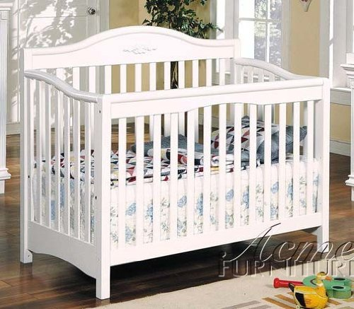 Ikea Baby Cribs Convertible Baby Crib White Finish By Acme