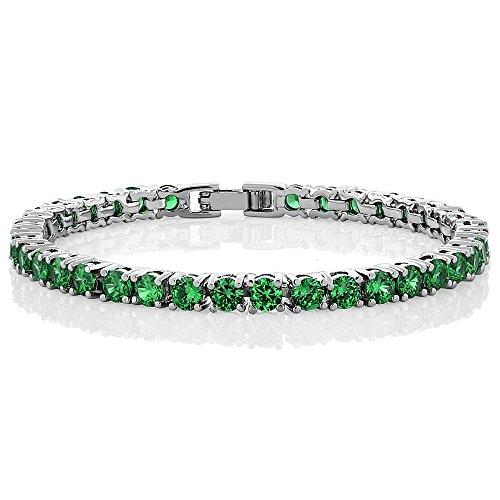 10.00 Ct Round Green Color Cubic Zirconia CZ Tennis Bracelet 7